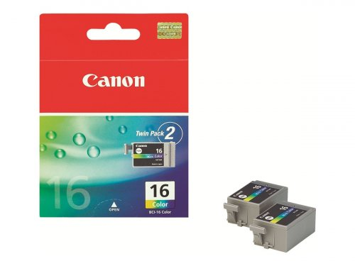 Canon BCI-16 - 9818A002 - 2x Tinte cyan, magenta, gelb - für i90; PIXMA iP90, iP90v, mini220; SELPHY CP500, DS700, DS810