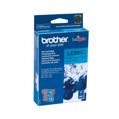 Brother LC-980C - Tinte cyan - für Brother DCP-145, 163, 167, 193, 195, 197, 365, 373, 375, 377, MFC-250, 255, 290, 295, 297