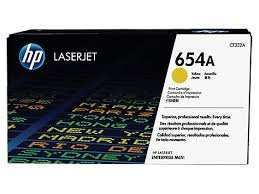 HP 654A - CF332A - Toner gelb - für Color LaserJet Enterprise M651dn M651n M651xh; Color LaserJet Managed M651dnm M651xhm