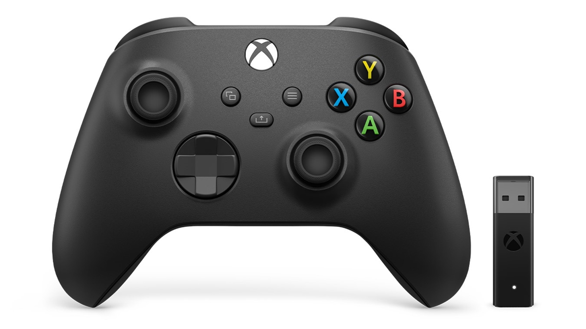 Microsoft Xbox Wireless Controller + Wireless Adapter for Windows 10 Schwarz Gamepad PC, Xbox One, Xbox One S, Xbox One X, Xbox Series S, Xbox Series
