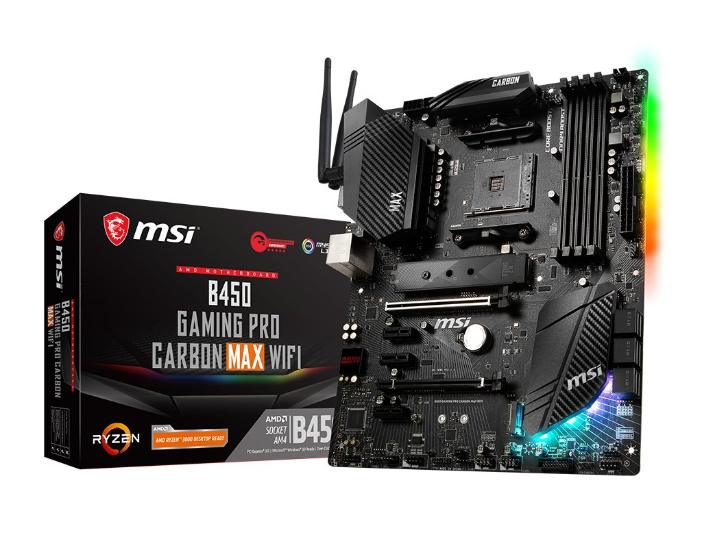 MSI B450 GAMING PRO CARBON MAX WIFI Motherboard AMD B450 Socket AM4 ATX ( B450 GAMING PRO CARBON MAX WIFI )