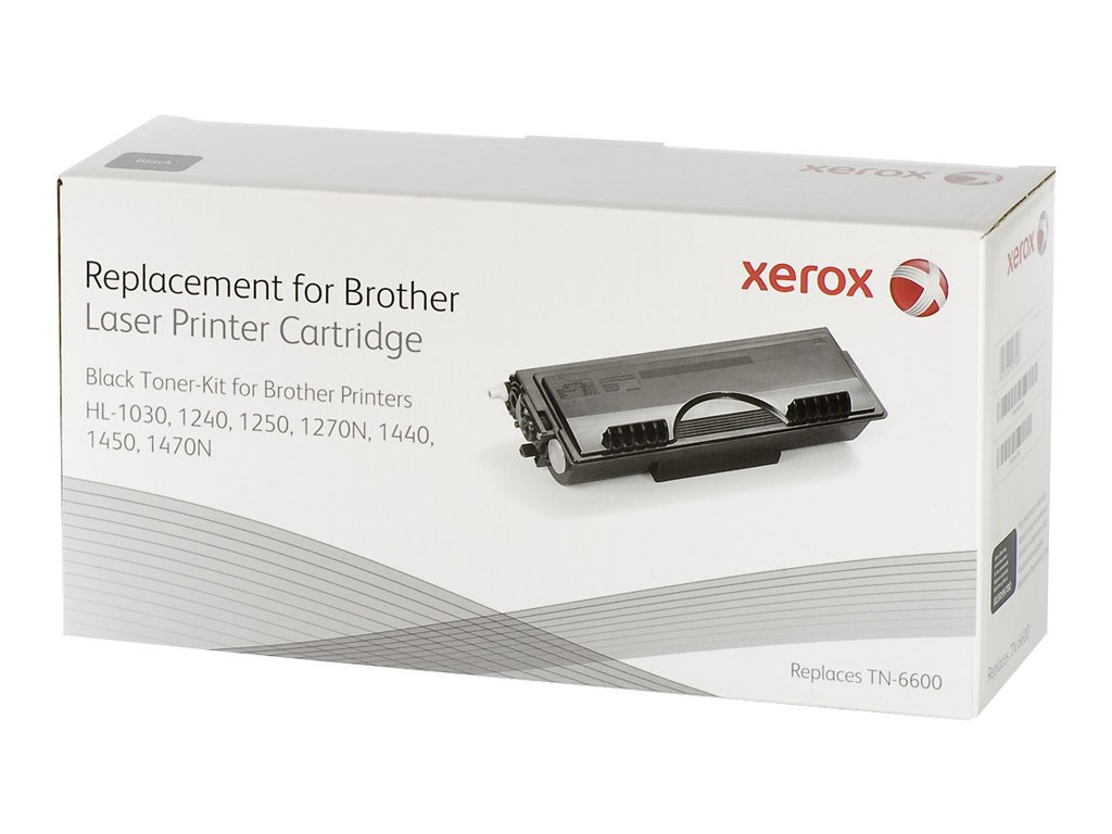 Xerox Black toner cartridge  Equivalent to Brother TN6600  Compatible with  Brother HL-1030, HL-1230/1240/1250/1270N, HL-1440/HL-1450/HL-1470N, MFC