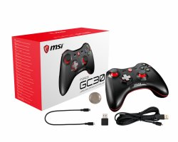 MSI FORCE GC30 Wireless Pro Gaming Controller PC and Android PC and Android ready, Upto 8 hours battery usage, adjustable D-Pad cover, Dual vibration motors, Ergonomic design ( FORCE GC30 )
