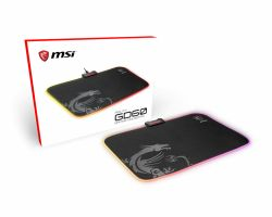 MSI AGILITY GD60 RGB Pro Gaming Mousepad 386mm x 290mm, Pro Gamer Silk Surface, Iconic Dragon design, Anti-slip and shock-absorbing rubber base, RGB edges ( AGILITY GD60 )