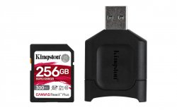 Kingston Technology Canvas React Plus memory card 256 GB SD UHS-II Class 10 ( MLPR2/256GB )