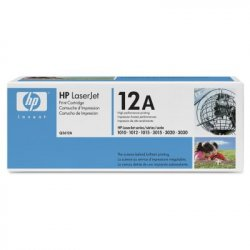 HP 12A Black Original LaserJet Toner Cartridge ( Q2612A )