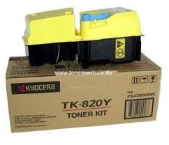 KYOCERA TK-820Y Laser cartridge 7000pages Yellow ( 1T02HPAEU0 )
