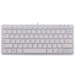 R-Go Tools R-Go Compact Keyboard, QWERTY (US), white, wired ( RGOECQYW )