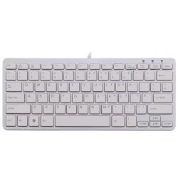 R-Go Tools R-Go Compact Keyboard, QWERTY (UK), white, wired ( RGOECUKW )