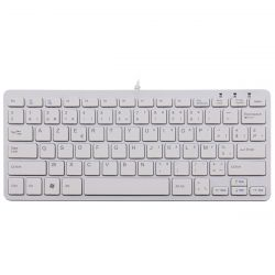 R-Go Tools R-Go Compact Keyboard, AZERTY (BE), white, wired ( RGOECBEW )