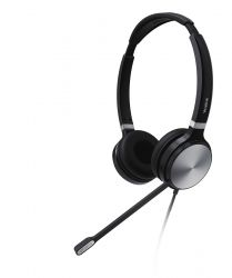Yealink UH36 Dual Headset Head-band 3.5 mm connector USB Type-A Black, Silver ( UH36-Dual-Teams )
