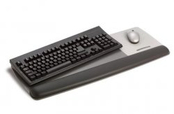 3M 7000081614 wrist rest Black, Grey ( 7000081614 )