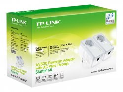 TP-LINK TL-PA4010PKIT 600Mbit/s Ethernet LAN White 2pc(s) PowerLine network adapter ( TL-PA4010PKIT )