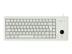 CHERRY Compact-Keyboard G84-4400 - Tastatur - PS/2 - Deutsch - Hellgrau