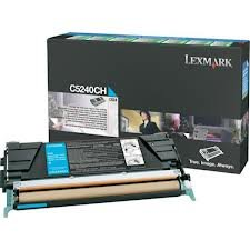 Lexmark C5240CH - Toner cyan - für C524 524dn 524dtn 524n 524tn 532dn 532n 534dn 534dtn 534n