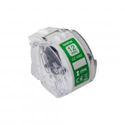 Brother CZ-1002 label-making tape White on green ( CZ-1002 )