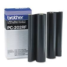 brother PC-202RF - 2x Thermotransfer-Farbband schwarz - für Brother MFC-1770 MFC-1780