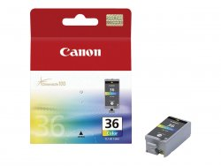 Canon CLI-36 Color - Farbe (Cyan, Magenta, Gelb, Schwarz) - Original - Tintenpatrone - für PIXMA iP100, iP100 Bundle, iP100 with battery, iP100wb, iP110, mini260, mini320