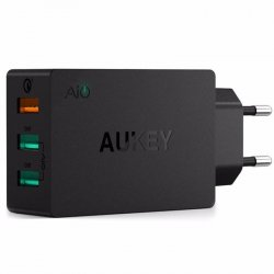 AUKEY PA-T14 mobile device charger Black Indoor ( PA-T14 )
