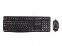 Logitech Desktop MK120 keyboard USB QWERTZ German Black ( 920-002540 )