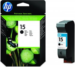 HP 15 Large Black Original Ink Cartridge ( C6615DE )