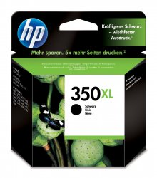 HP 350XL High Yield Black Original Ink Cartridge ( CB336EE )