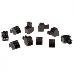 Axis Connector A 2-pin 3.81 Straight 10 pcs wire connector Black ( 5800-901 )