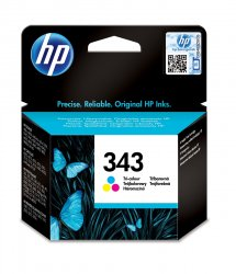 HP 343 Tri-color Inkjet Print Cartridge ink cartridge 1 pc(s)  Standard Yield Cyan, Magenta, Yellow ( C8766EE )