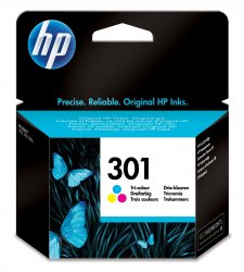 HP 301 ink cartridge 1 pc(s)  Standard Yield Cyan, Magenta, Yellow ( CH562EE )