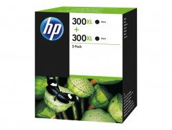 HP 300XL 2-pack High Yield Black Original Ink Cartridges ( D8J43AE )