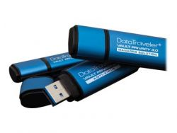Kingston Technology DataTraveler Vault Privacy 3.0 16GB 16GB USB 3.0 (3.1 Gen 1) USB Type-A connector Blue USB flash drive ( DTVP30/16GB )