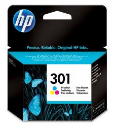 HP 301 Tri-color Original Ink Cartridge ( CH562EE )