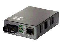 LevelOne 10/100BASE-TX to 100BASE-FX MMF SC PoE PD Converter ( 530063 )