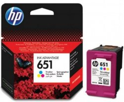 HP 651 300pages Cyan, Magenta, Yellow ink cartridge ( C2P11AE )