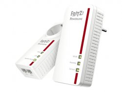AVM FRITZ!Powerline 1260E - WLAN Set - Bridge - GigE, HomePlug AV (HPAV) 2.0, IEEE 1901 - 802.11a/b/g/n/ac - Dual-Band ( 20002795 )