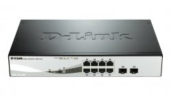 D-Link DGS-1210-08P L2 Gigabit Ethernet (10/100/1000) Power over Ethernet (PoE) Black network switch ( DGS-1210-08P )