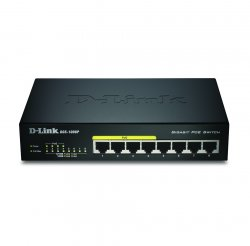 D-Link DGS-1008P/E L2 Power over Ethernet (PoE) Black network switch ( DGS-1008P/E )