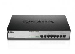 D-Link DGS-1008MP Unmanaged network switch Gigabit Ethernet (10/100/1000) Power over Ethernet (PoE) 1U Black network switch ( DGS-1008MP )