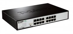 D-Link DGS-1016D/E Unmanaged network switch Black, Metallic network switch ( DGS-1016D/E )
