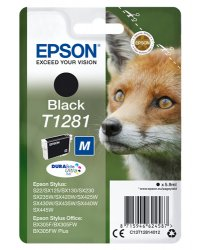 Epson T1281 5.9ml Black ink cartridge ( C13T12814012 )