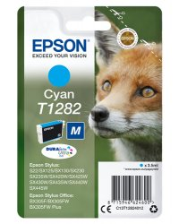 Epson T1282 3.5ml Cyan ink cartridge ( C13T12824012 )