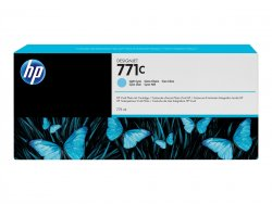 HP 771C 775-ml Light Cyan DesignJet Ink Cartridge ( B6Y12A )