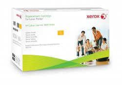 Xerox Yellow toner cartridge. Equivalent to HP Q6472A. Compatible with HP Colour LaserJet 3600 ( 003R99753 )