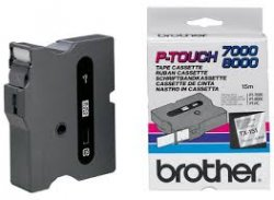 Brother Gloss Laminated Labelling Tape - 24mm, Black/Clear TX label-making tape ( TX-151 )