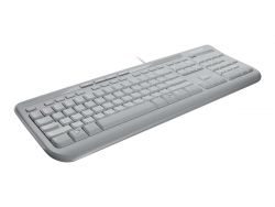 Microsoft Wired Keyboard 600 - Tastatur - USB - Deutsch - weiß ( ANB-00028 )