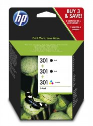 HP 301  Black,Cyan,Magenta,Yellow Multipack 3 pc(s) ( E5Y87EE )