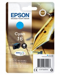 Epson 16 - C13T16224012 - Tinte cyan -     für WorkForce WF-2010 2510 2520 2530 2540 2630 2650 2660 2750 2760