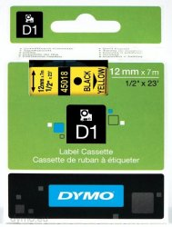 DYMO D1 - S0720580 - Etikettenband - für LabelMANAGER 100 160 210 220 260 280 300 360 420 Wireless PnP; LabelPOINT 250
