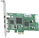 Dawicontrol DC-FW800 FireWire PCIe Hostadapter interface cards/adapter ( DC-FW800 PCIE )