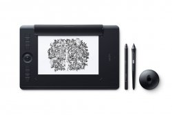 Wacom Intuos Pro Paper graphic tablet 5080 lpi 224 x 148 mm USB/Bluetooth Black ( PTH-660P-N )